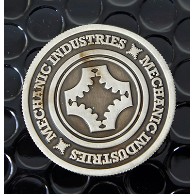 Half Dollar Coin (Gun Metal Grey) by Mechanic Industries - Trick