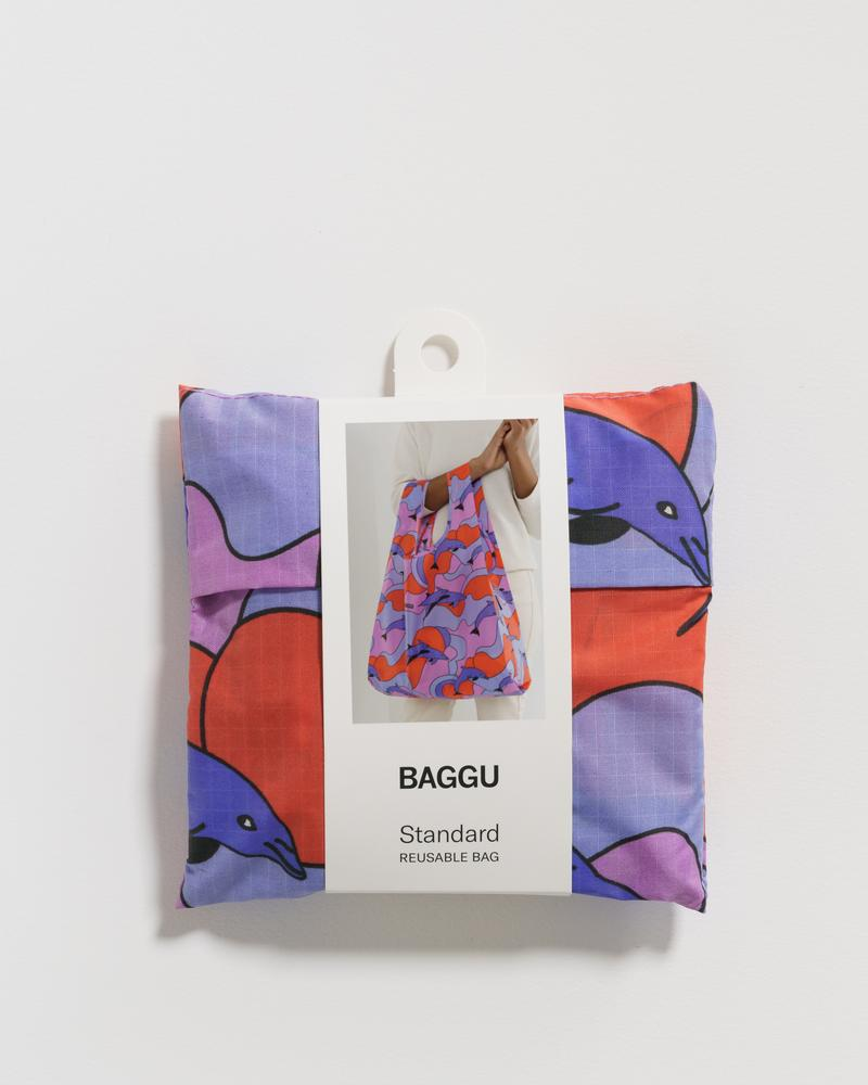 BAGGU Standard Baggu (Dolphins). Worldwide Free Shipping - Singapore, Malaysia, Brunei, Indonesia, India, Japan, Hong Kong, USA, UAE and Europe!