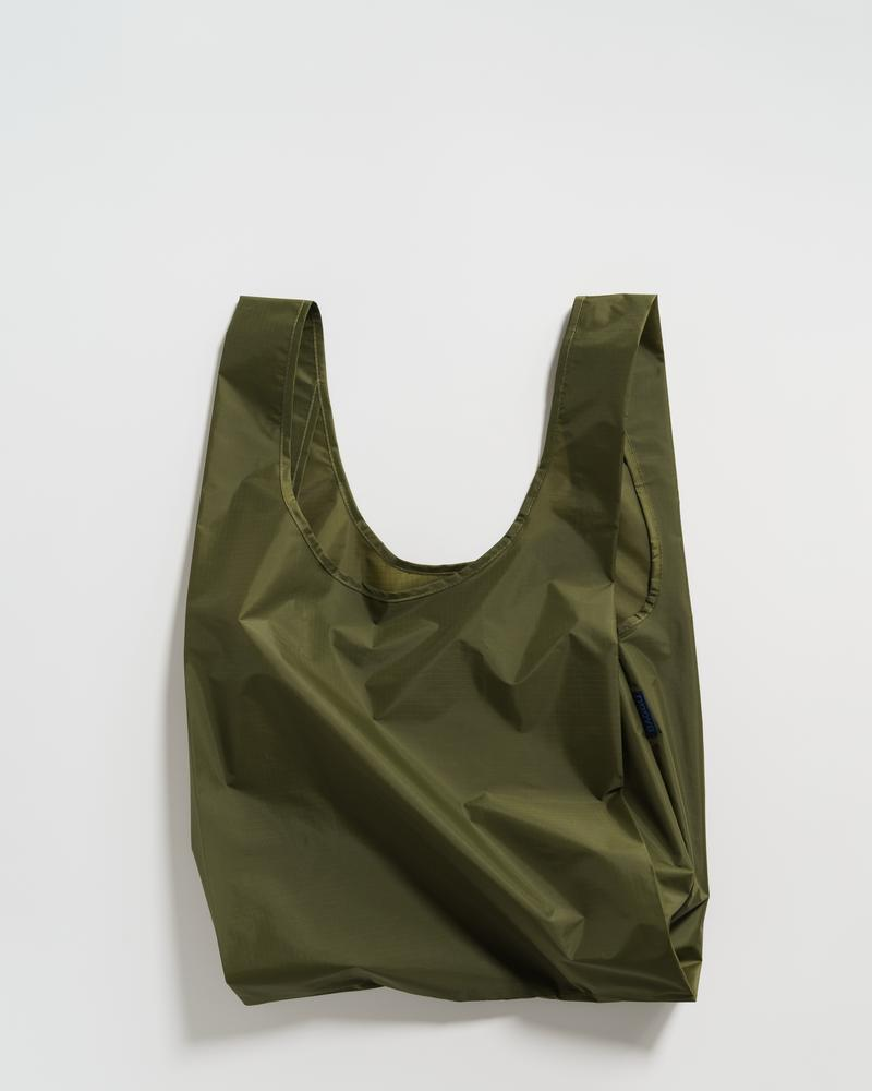 BAGGU Standard Baggu (Olive). Worldwide Free Shipping - Singapore, Malaysia, Brunei, Indonesia, India, Japan, Hong Kong, USA, UAE and Europe!