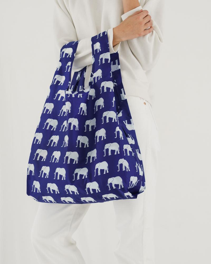 BAGGU Standard Baggu (Elephant Blue). Worldwide Free Shipping - Singapore, Malaysia, Brunei, Indonesia, India, Japan, Hong Kong, USA, UAE and Europe!