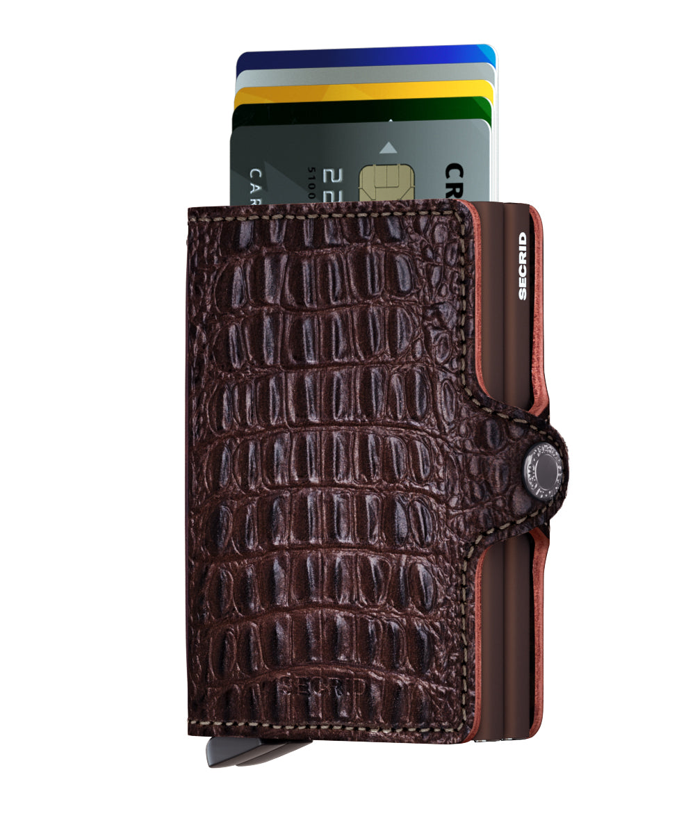 Secrid Twinwallet (Nile Brown). Worldwide Free Shipping - Singapore, Malaysia, Brunei, Indonesia, Hong Kong, USA, Europe!