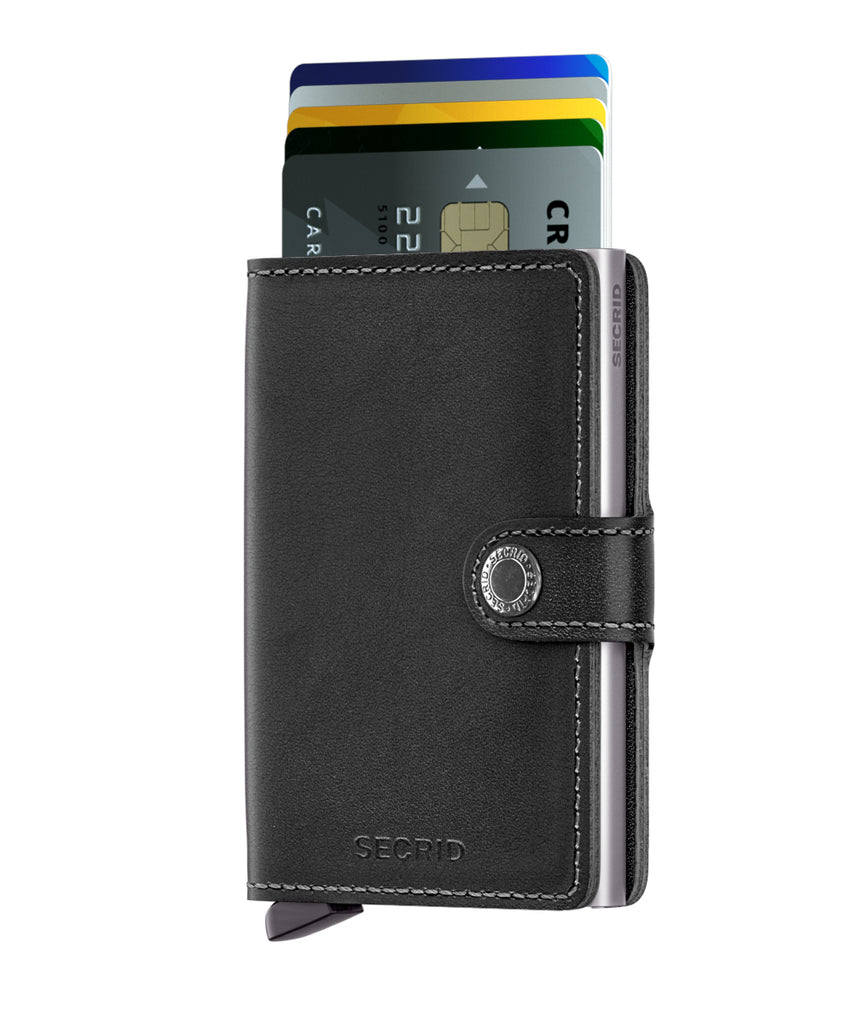 Secrid Miniwallet (Original Black). Worldwide Free Shipping- Singapore, Malaysia, Brunei, Indonesia, Hong Kong, USA, Europe!