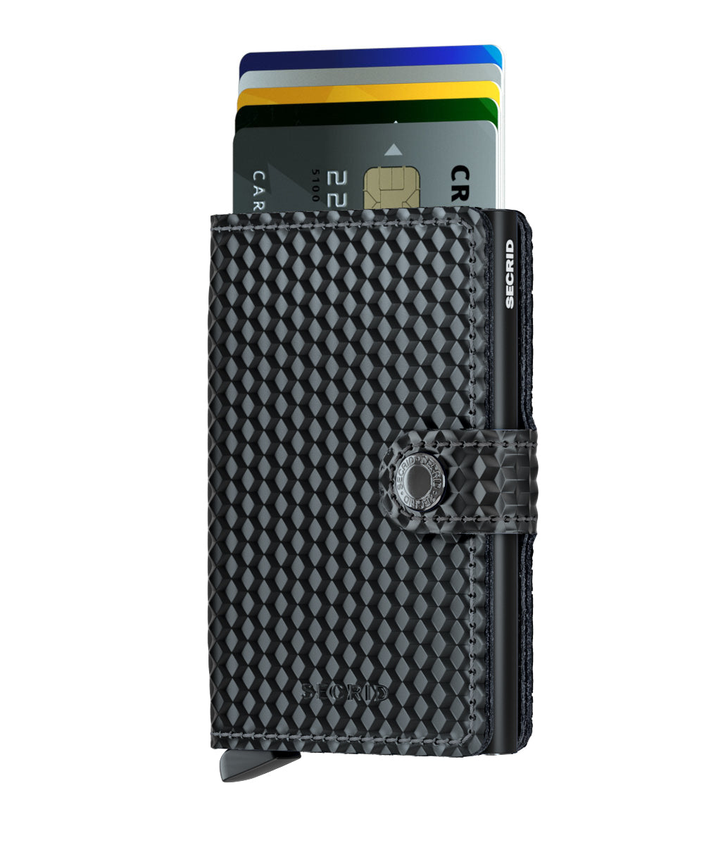 Secrid Miniwallet (Cubic Black). Worldwide Free Shipping - Singapore, Malaysia, Brunei, Indonesia, Hong Kong, USA, Europe!
