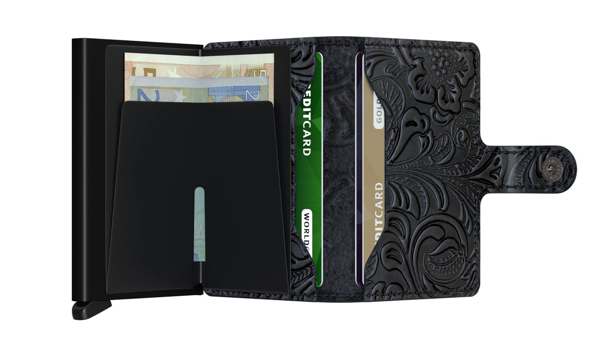 Secrid Miniwallet (Ornament Black). Worldwide Free Shipping - Singapore, Malaysia, Brunei, Indonesia, Hong Kong, USA, Europe!