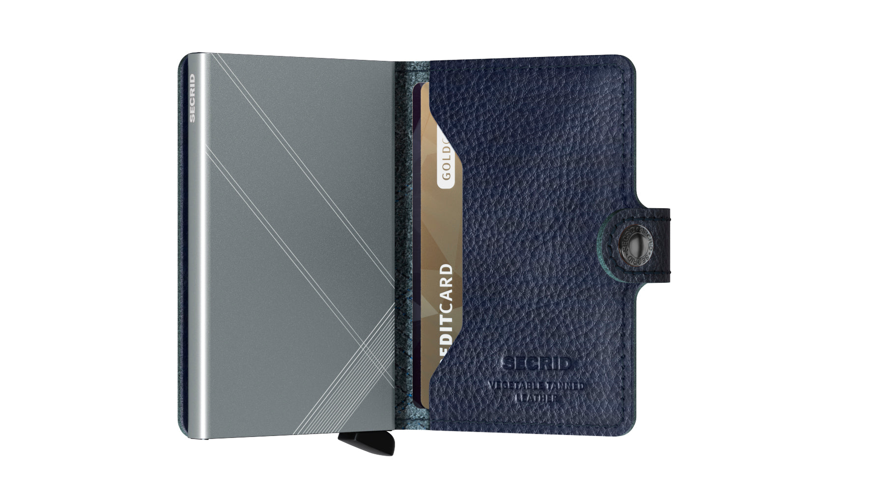 Secrid Miniwallet (Stitch Linea Navy). Worldwide Free Shipping - Singapore, Malaysia, Brunei, Indonesia, Hong Kong, USA, Europe!
