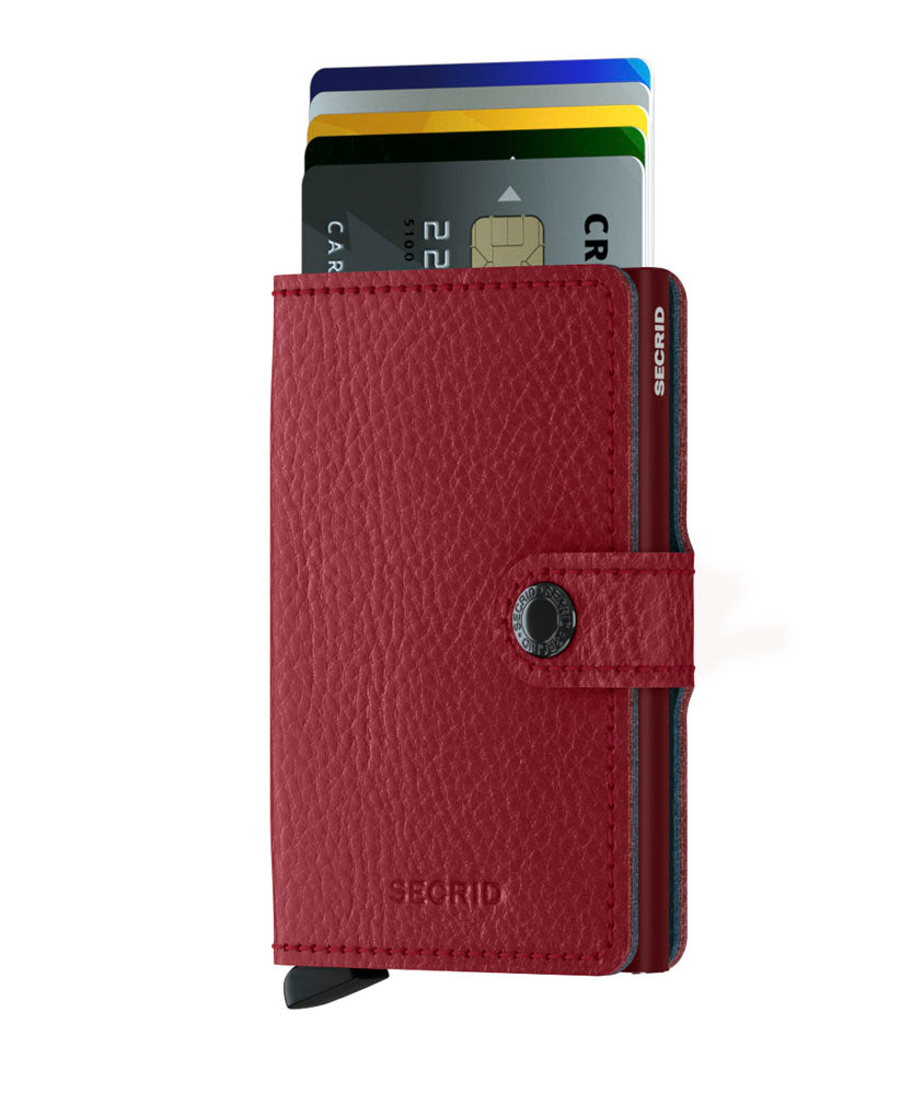 Secrid Miniwallet (Vegetable Rosso). Worldwide Free Shipping - Singapore, Malaysia, Brunei, Indonesia, Hong Kong, USA, Europe!