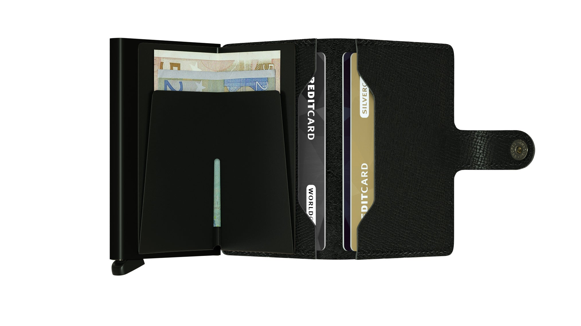 Secrid Miniwallet (Crisple Black). Worldwide Free Shipping - Singapore, Malaysia, Brunei, Indonesia, Hong Kong, USA, Europe!