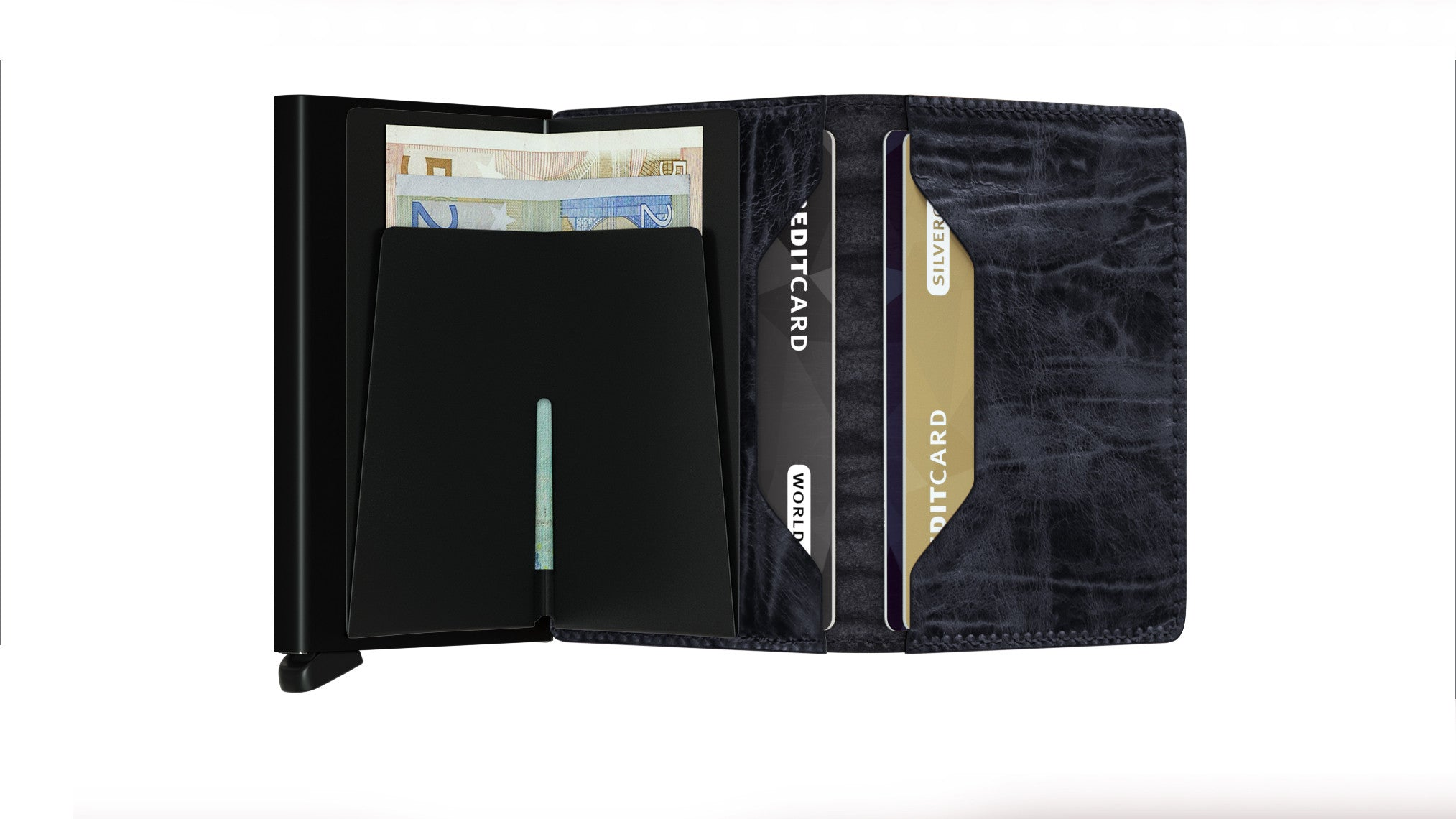 Secrid Slimwallet (Dutch Martin Night Blue) - Plus Minus
