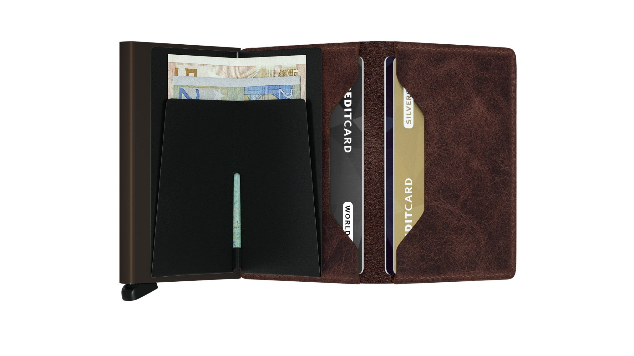 Secrid Slimwallet (Vintage Chocolate) - Plus Minus