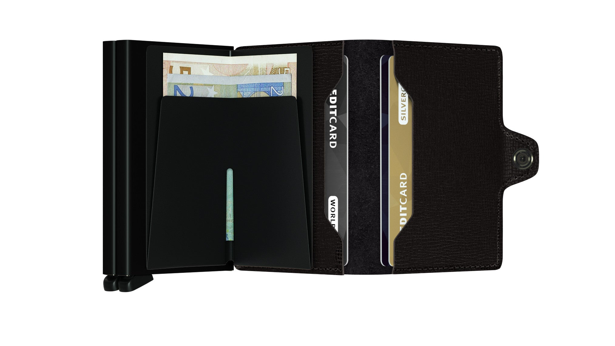 Secrid Twinwallet (Crisple Black). Worldwide Free Shipping - Singapore, Malaysia, Brunei, Indonesia, Hong Kong, USA, Europe!