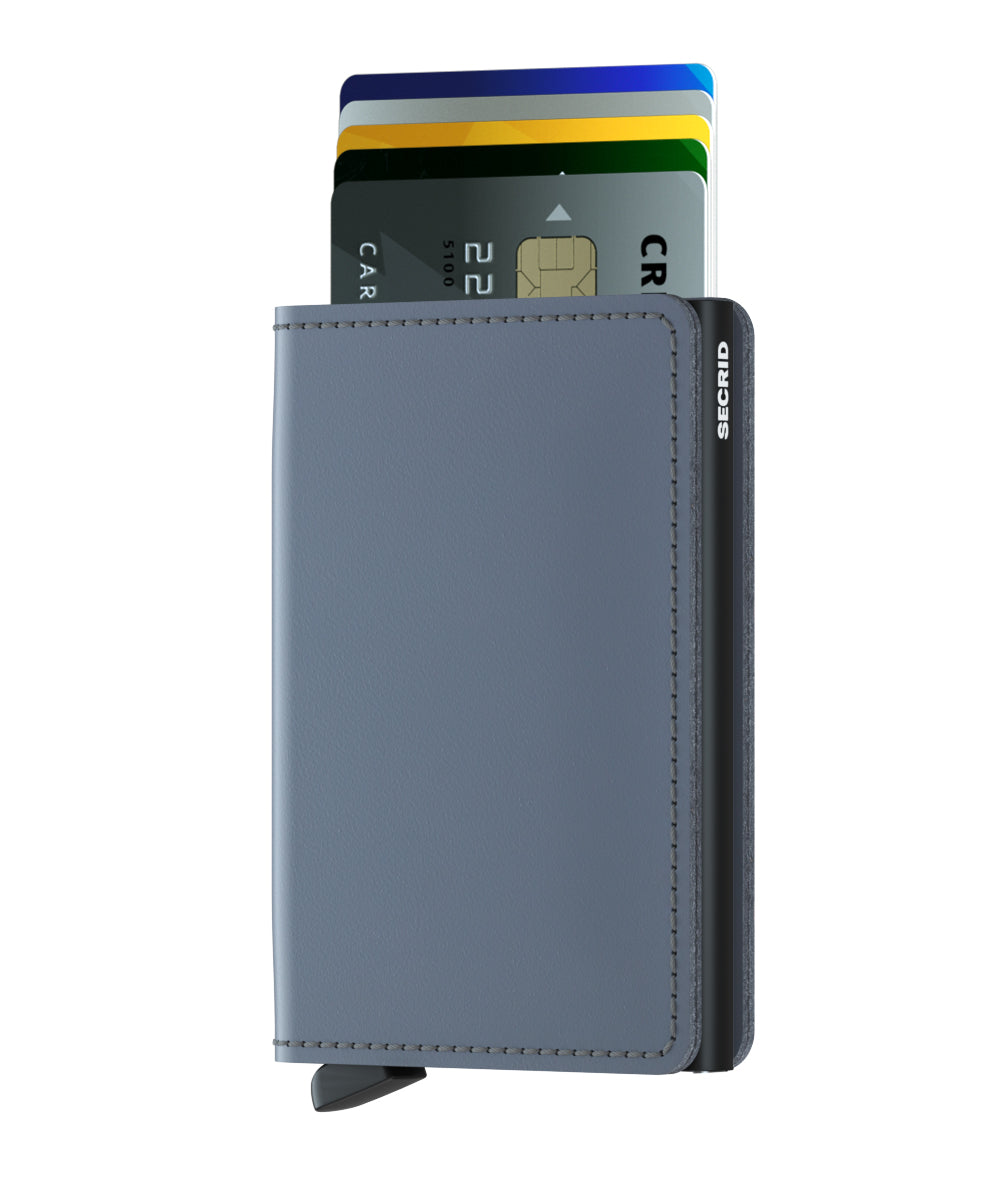 Secrid Slimwallet (Matte Grey Black) - Plus Minus