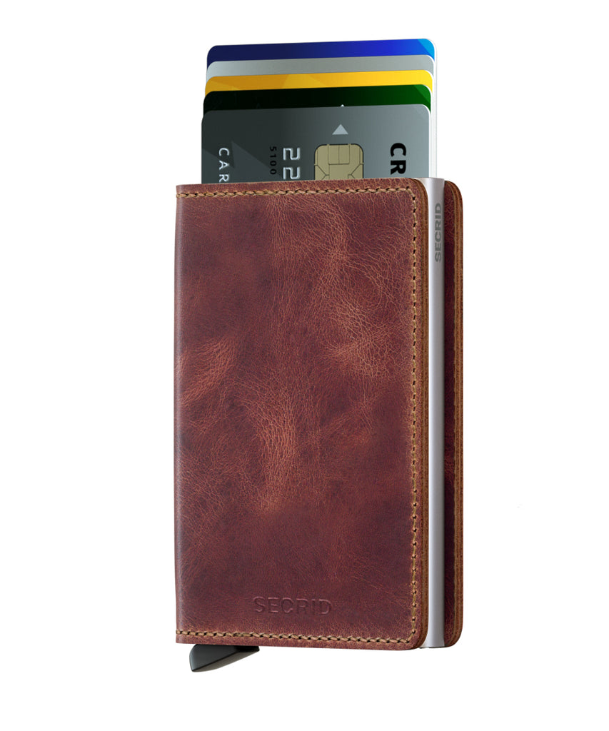 Secrid Slimwallet (Vintage Brown) - Plus Minus