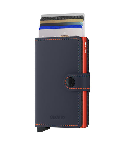 Secrid Miniwallet (Matte Night Blue & Orange)