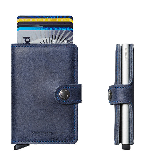 Secrid Miniwallet (Vintage Blue). Worldwide Free Shipping - Singapore, Malaysia, Brunei, Indonesia, Hong Kong, USA, Europe!