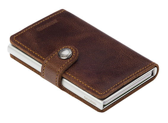 Secrid Miniwallet (Vintage Brown). Worldwide Free Shipping - Singapore, Malaysia, Brunei, Indonesia, Hong Kong, USA, Europe!