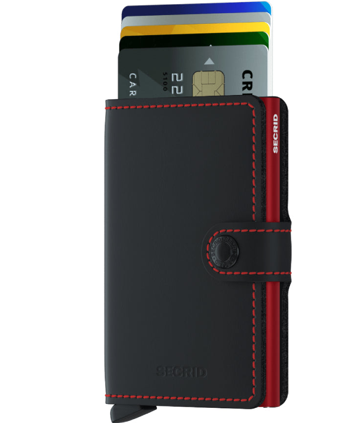Secrid Miniwallet (Matte Black Red). Worldwide Free Shipping - Singapore, Malaysia, Brunei, Indonesia, Hong Kong, USA, Europe!