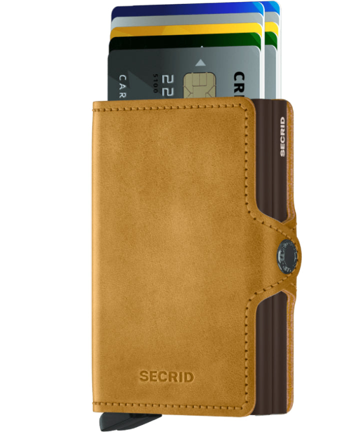 Secrid Twinwallet (Vintage Ochre). Worldwide Free Shipping - Singapore, Malaysia, Brunei, Indonesia, Hong Kong, USA, Europe!