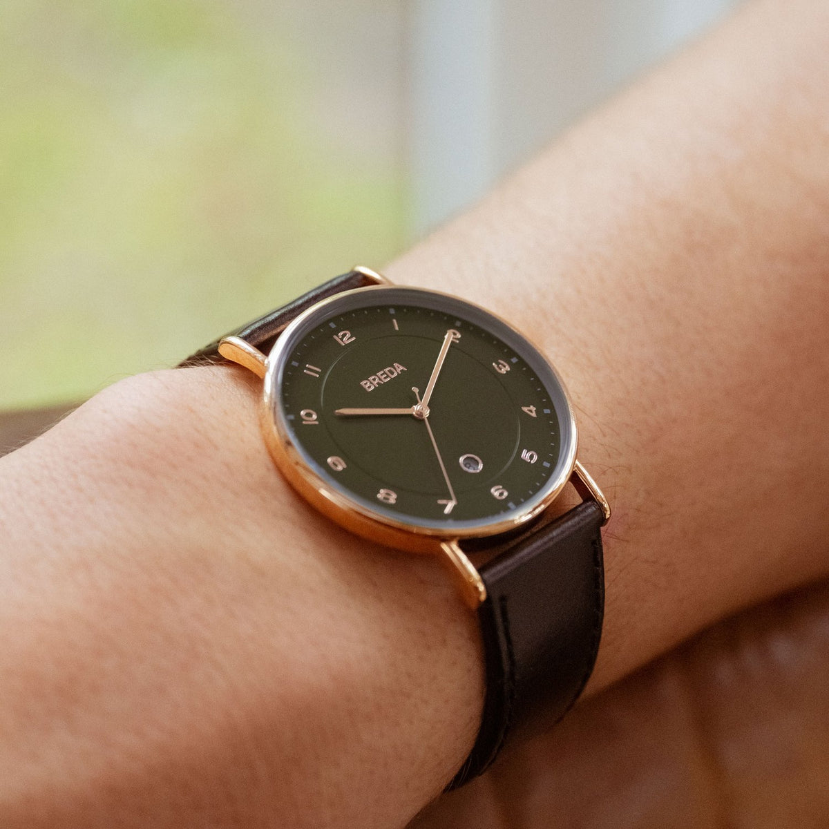 Breda Pei Rose Gold Black Moss. Worldwide Free Shipping - Singapore, Malaysia, Brunei, Indonesia, India, Japan, Hong Kong, USA, UAE, UK, and Europe!