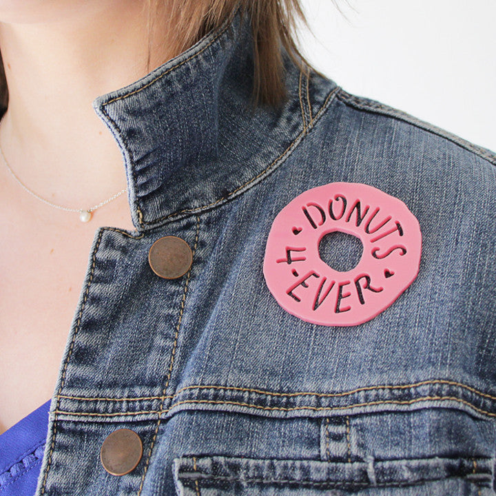 Donuts 4-Ever Happy Pin - Plus Minus