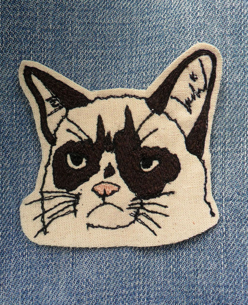 Grumpy Cat Patch by Leigh Bowser - Plus Minus
