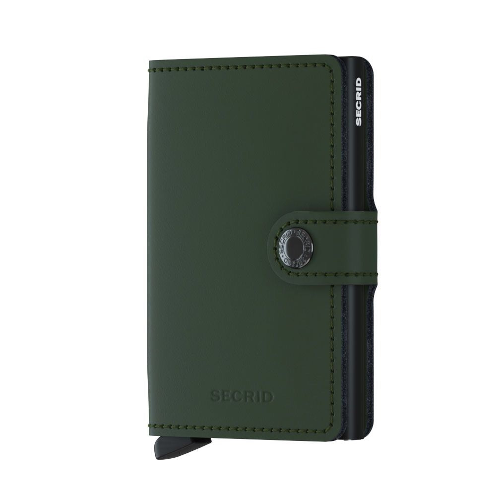 Secrid Miniwallet (Matte Green Black) - Plus Minus