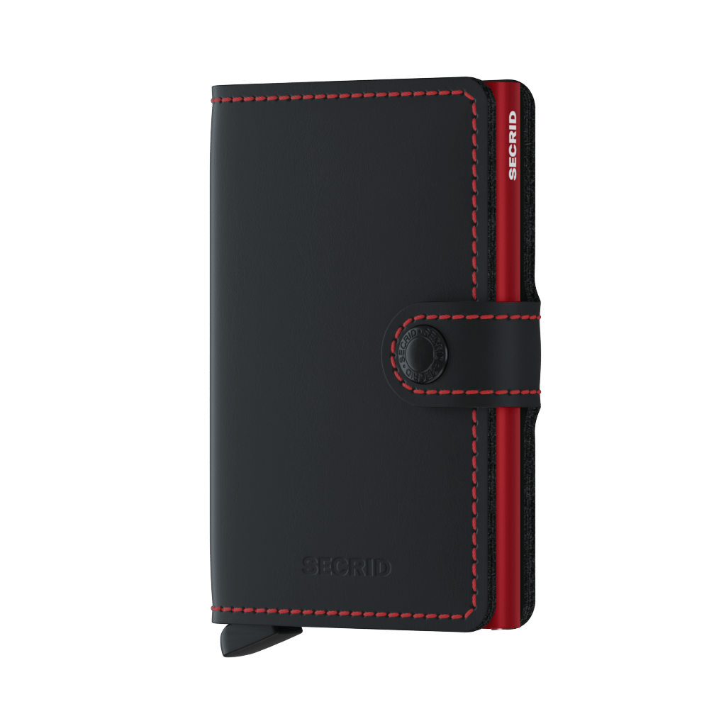 Secrid Miniwallet (Matte Black Red)