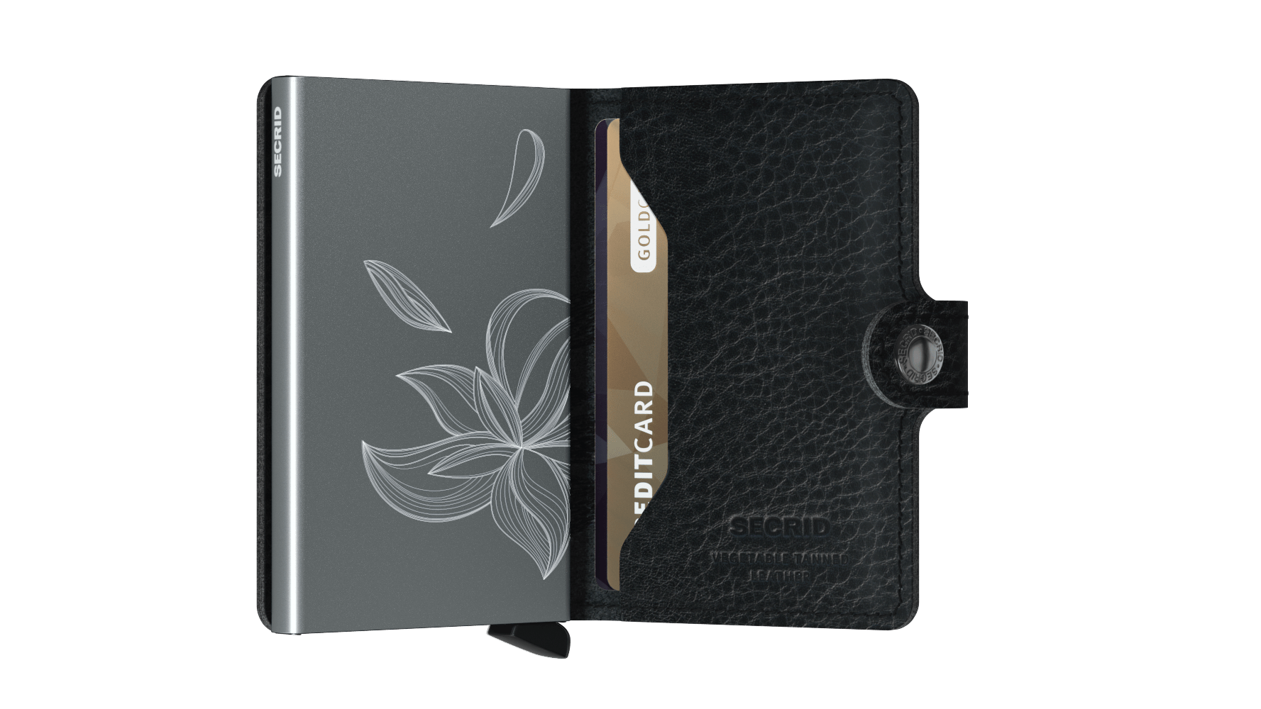 Secrid Miniwallet (Stitch Magnolia Black). Worldwide Free Shipping - Singapore, Malaysia, Brunei, Indonesia, Hong Kong, USA, Europe!