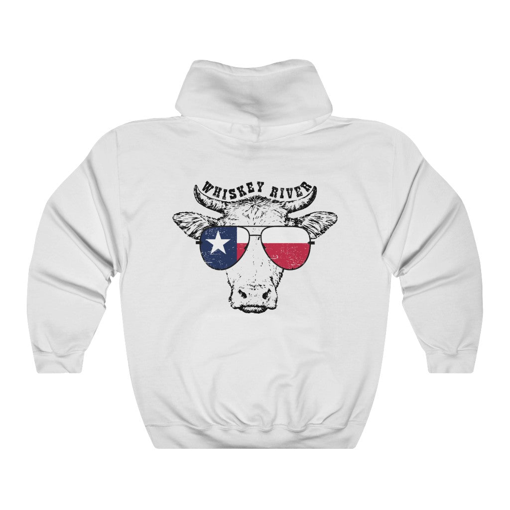 Texas Cow Hooded Sweatshirt