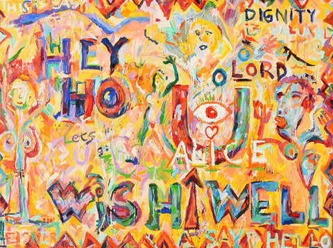 Hey Ho Wish You Well – Abstract oil painting