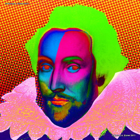 WILLIAM SHAKESPEARE #1 - Ultra-fine Pop Art Giclée Print
