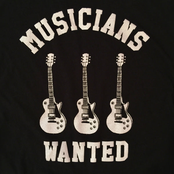 Musicians Wanted Black Graphic Tee