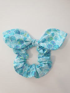 Mermaid Jumbo Bow Scrunchy (Pink or Blue)