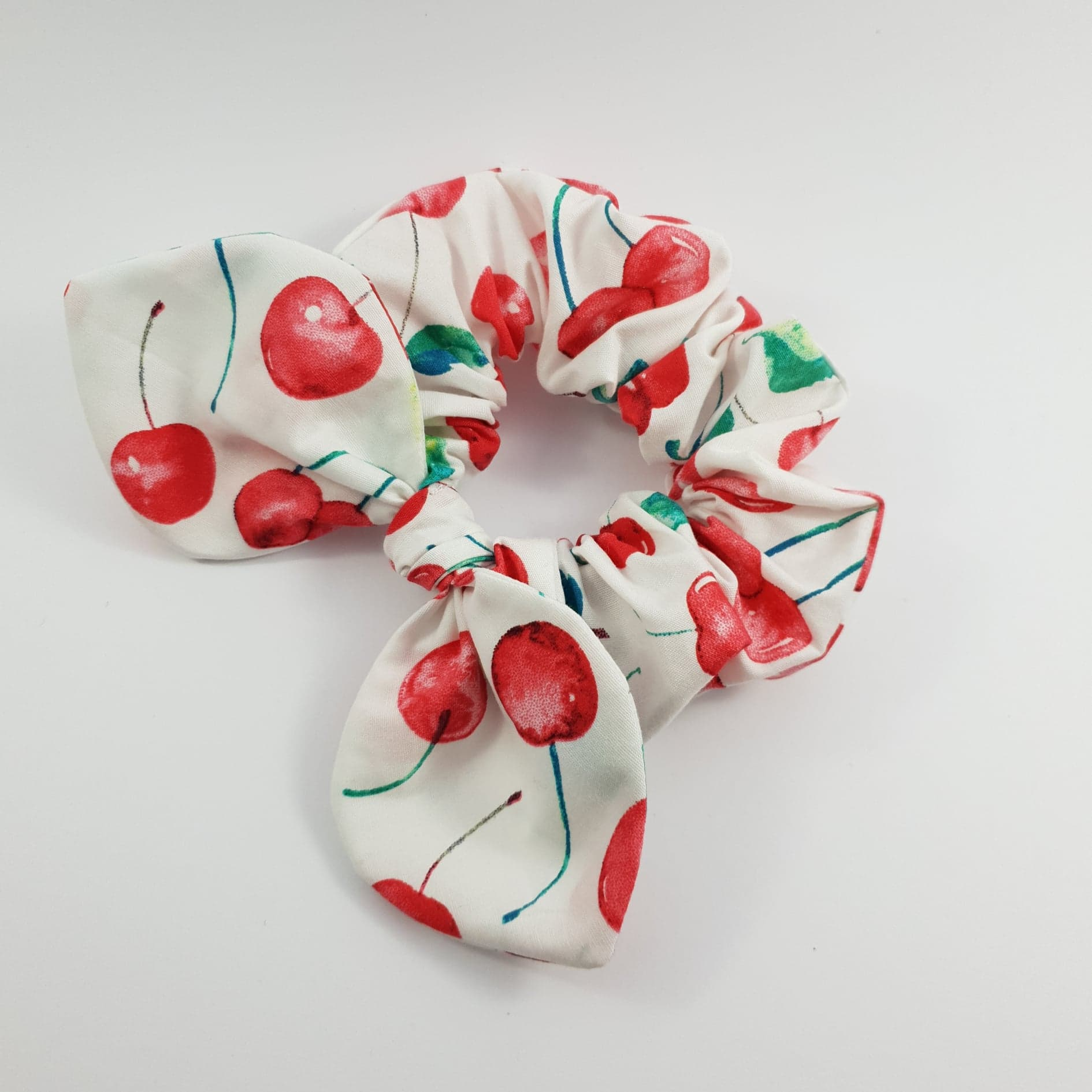 Cherry Pop Mini Bow Scrunchy