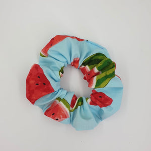Blue Watermelons Mini Scrunchie