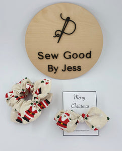 Santa's Mini Bow Scrunchies