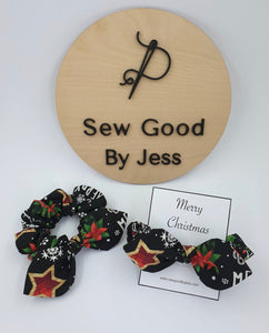Be Merry Mini Bow Scrunchies