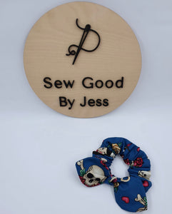 Sailor Mini Bow Scrunchy