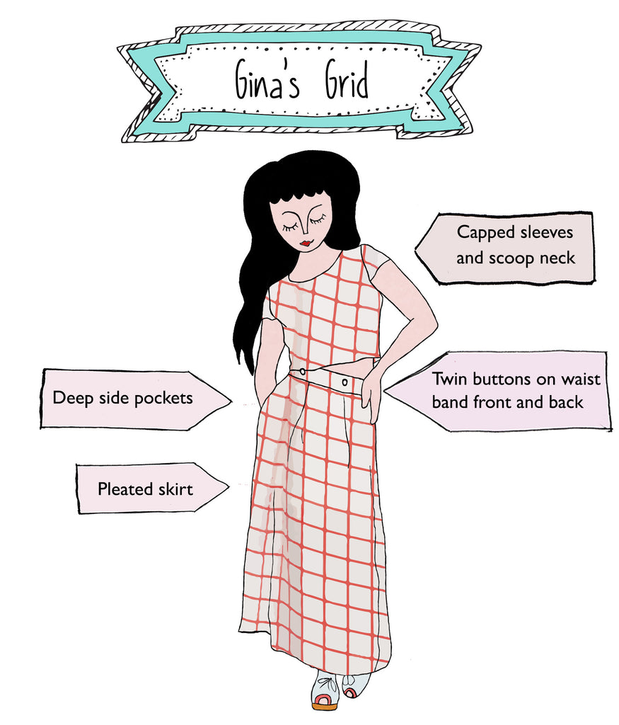 Gina's Grid - Red