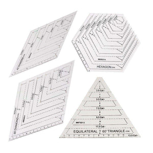 Clear Master Cut Quilting Templates (4 Rulers)