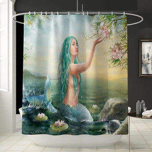3D Mermaid Shower Curtain