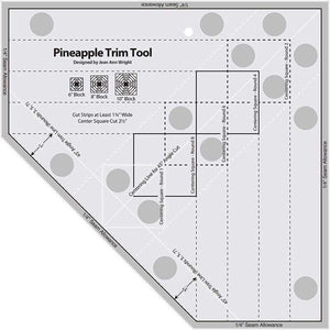 Pineapple Trim Tool Quilting Ruler