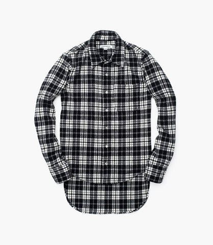 FISHTAIL FLANNEL (White / Black)