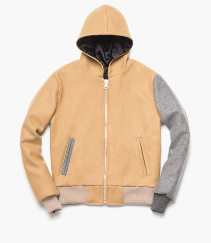HOODED VARSITY (Sandstone)