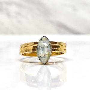 Marquise Mother of pearl ring