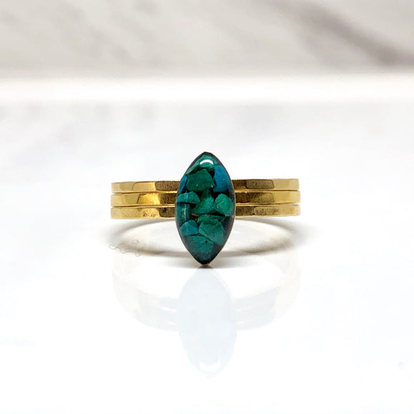 Marquise Chrysocolla ring
