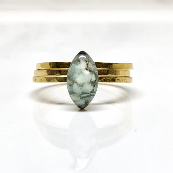 Marquise Amazonite ring