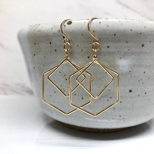 Geometric love Earrings