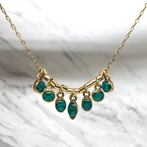 Chrysocolla mini 7 stones Necklace