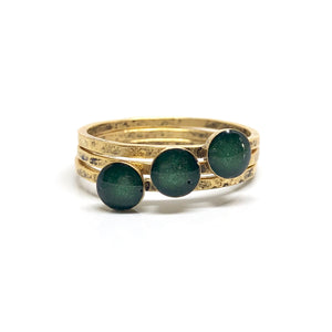 Forest  thin stacking Ring
