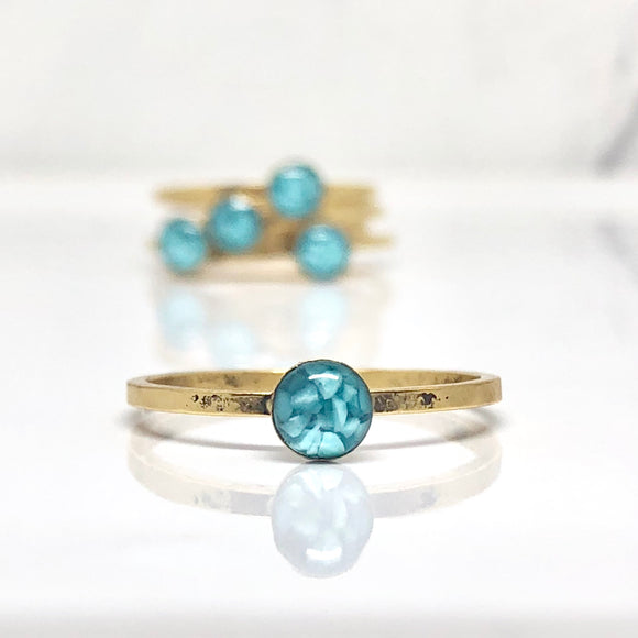 Turquoise thin stacking Ring